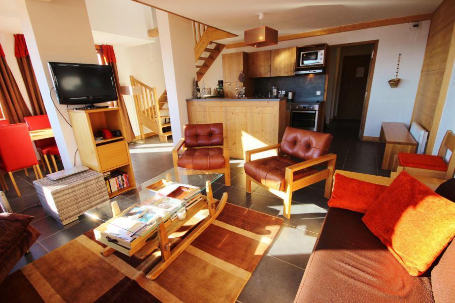 Wynajem na narty Apartament duplex 4 pokojowy 10 osób (C59) - Résidence Roc Belle Face C - Les Arcs - Pokój gościnny