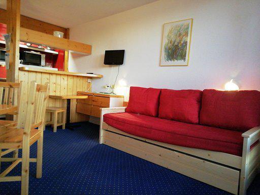 Wynajem na narty Apartament 2 pokojowy 5 osób (1112) - Résidence Tournavelles - Les Arcs - Pokój gościnny