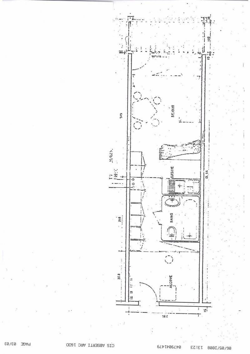 Skiverleih Résidence Varet - Les Arcs - Plan
