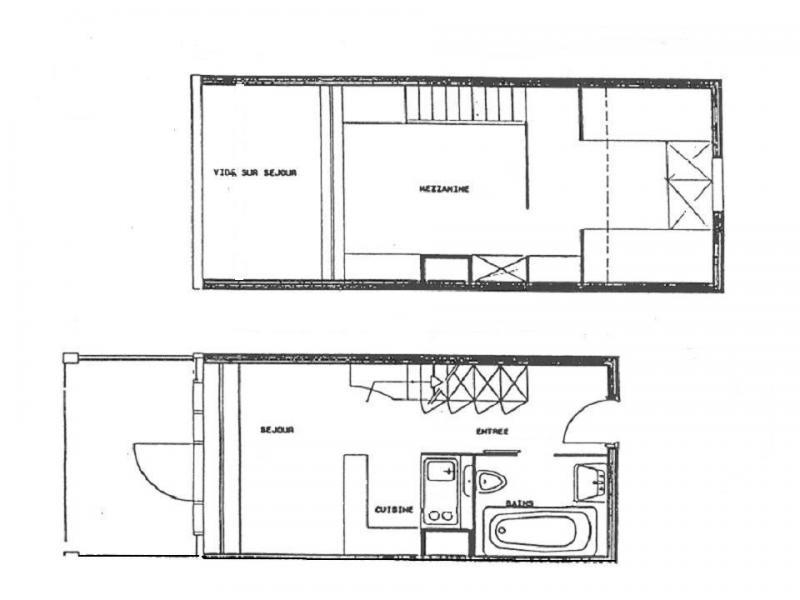Wynajem na narty Apartament 3 pokojowy 5 osób (400) - Résidence Vogel - Les Arcs