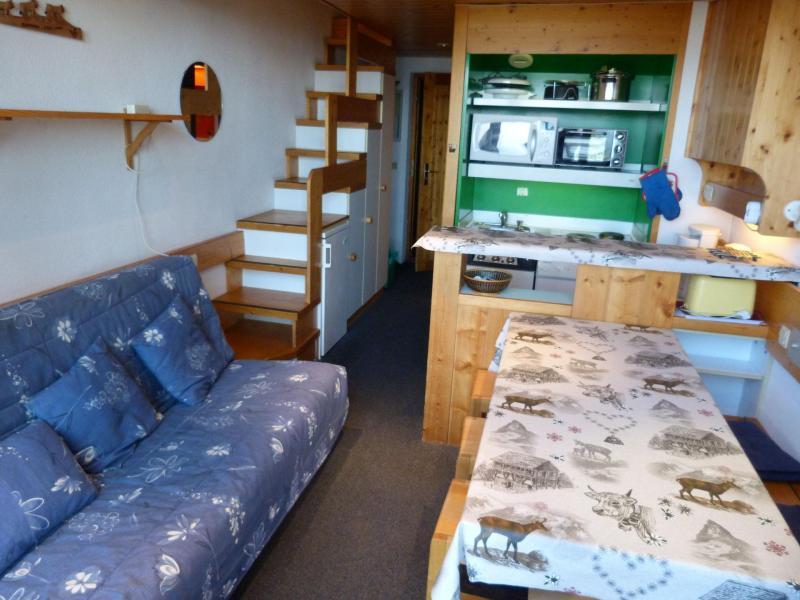 Location au ski Appartement 2 pièces mezzanine 6 personnes (004) - Résidence Vogel - Les Arcs - Canapé
