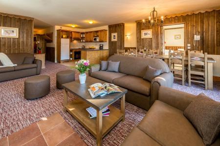 Wynajem na narty Apartament 6 pokojowy 10-12 osób - Chalet Altitude - Les Arcs - Pokój gościnny