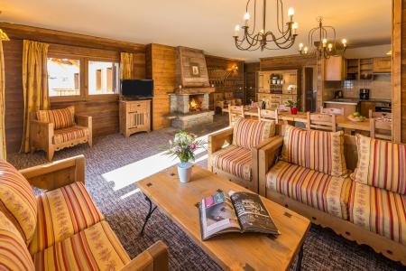 Wynajem na narty Apartament 6 pokojowy 10-12 osób - Chalet de l'Ours - Les Arcs - Pokój gościnny