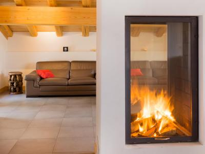 Rent in ski resort Chalet des Arcs CED01 - Les Arcs - Fireplace