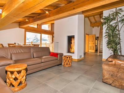 Rent in ski resort Chalet des Arcs CED01 - Les Arcs - Living room
