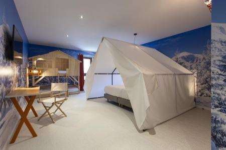 Rent in ski resort Bedroom for 1-2 people (TENTE) - Hôtel Base Camp Lodge - Les Arcs - Double bed