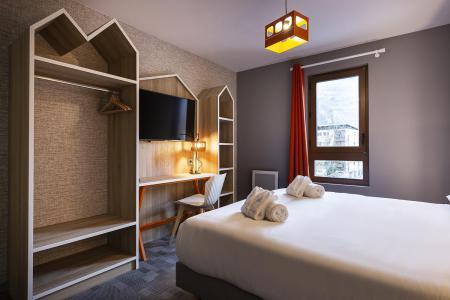 Rent in ski resort Room 2 people (CORDEE) - Hôtel Base Camp Lodge - Les Arcs - Double bed