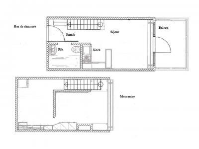 Location au ski Studio mezzanine 5 personnes (510) - Résidence Archeboc - Les Arcs