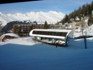Location au ski Studio 2 personnes (541) - Residence Cascade - Les Arcs - Extérieur hiver