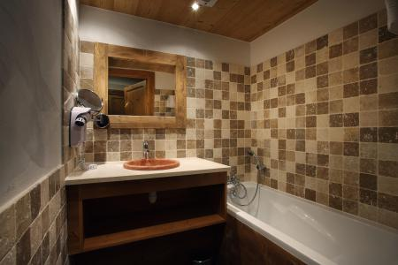 Skiverleih Résidence Chalet des Neiges Cîme des Arcs - Les Arcs - Badezimmer