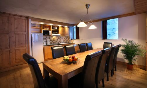 Rent in ski resort Résidence Chalet des Neiges Cîme des Arcs - Les Arcs - Dining area