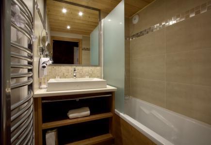 Skiverleih Résidence Chalet des Neiges la Source des Arcs - Les Arcs - Badezimmer