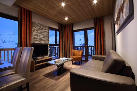 Location au ski Résidence Chalet des Neiges la Source des Arcs - Les Arcs - Coin séjour