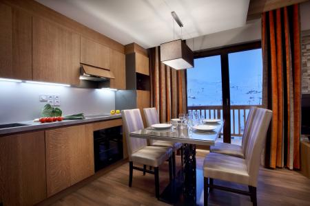 Rent in ski resort Résidence Chalet des Neiges la Source des Arcs - Les Arcs - Dining area