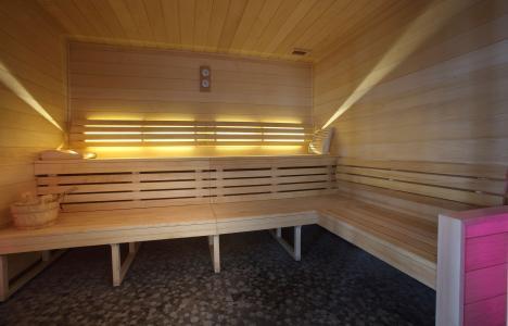Skiverleih Résidence Chalet des Neiges la Source des Arcs - Les Arcs - Sauna