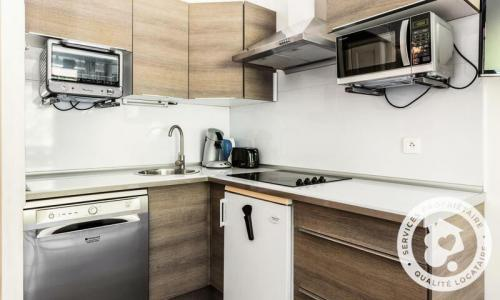 Location au ski Appartement 2 pièces 6 personnes (Confort 35m²-8) - Résidence Charmettoger - Maeva Home - Les Arcs - Extérieur hiver