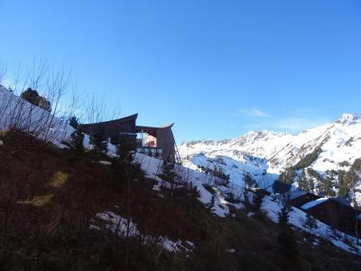 Location au ski Studio coin montagne 3 personnes (111) - Résidence Fond Blanc - Les Arcs - Extérieur hiver