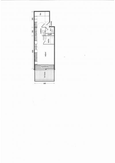 Skiverleih Studio Schlafnische 5 Personen (13R) - Résidence Haut de l'Adret - Les Arcs - Plan