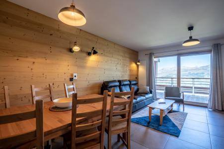 Location au ski Résidence L'Ecrin - Les Arcs - Salle à manger