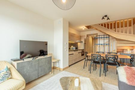 Rent in ski resort 3 room apartment 6 people (112) - Résidence le Ridge - Les Arcs - Dining area