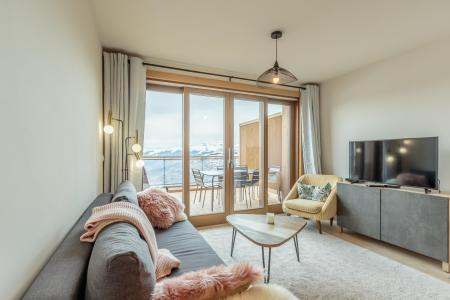Rent in ski resort 3 room apartment 6 people (112) - Résidence le Ridge - Les Arcs - Living room