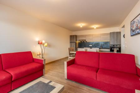Rent in ski resort 3 room apartment 8 people (303) - Résidence le Ridge - Les Arcs - Living room