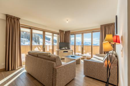 Rent in ski resort 4 room apartment 10 people (302) - Résidence le Ridge - Les Arcs - Living room