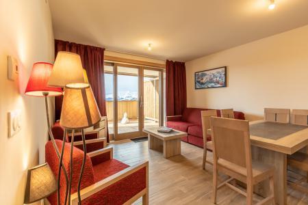 Location au ski Appartement 3 pièces 6 personnes (102) - Résidence le Ridge - Les Arcs - Séjour