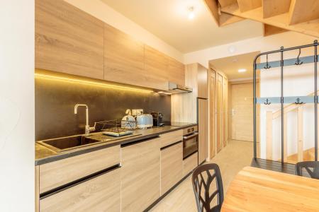 Location au ski Appartement 3 pièces 6 personnes (112) - Résidence le Ridge - Les Arcs - Kitchenette