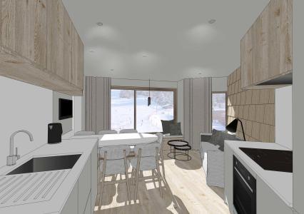 Location au ski Studio coin montagne 5 personnes (361) - Résidence les Charmettes - Les Arcs - Cuisine