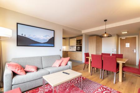 Rent in ski resort 4 room apartment 6 people (602) - Résidence les Monarques - Les Arcs - Living area