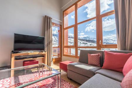 Rent in ski resort 4 room apartment 6 people (701) - Résidence les Monarques - Les Arcs - Living room