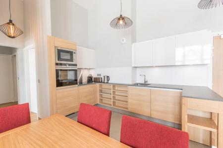 Rent in ski resort 4 room apartment 6 people (701) - Résidence les Monarques - Les Arcs - Open-plan kitchen