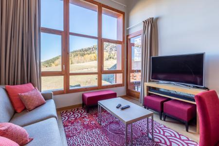 Rent in ski resort 4 room apartment 6 people (702) - Résidence les Monarques - Les Arcs - Living room