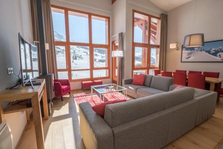 Rent in ski resort 5 room apartment 7-9 people (501) - Résidence les Monarques - Les Arcs - Living room