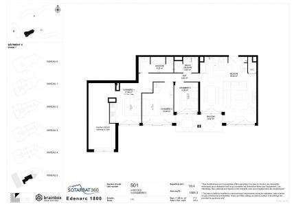 Rent in ski resort 5 room apartment 7-9 people (501) - Résidence les Monarques - Les Arcs - Plan