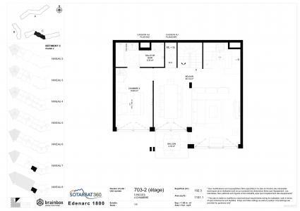 Rent in ski resort 5 room apartment 10 people (703) - Résidence les Monarques - Les Arcs - Plan