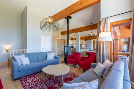 Rent in ski resort 6 room apartment 10 people (1000) - Résidence les Monarques - Les Arcs - Living room