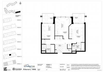 Rent in ski resort 6 room apartment 10 people (1000) - Résidence les Monarques - Les Arcs - Plan