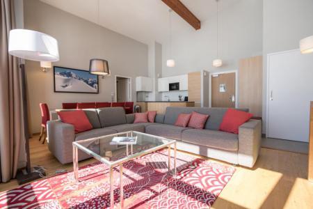 Location au ski Appartement 5 pièces 7-9 personnes (501) - Résidence les Monarques - Les Arcs - Canapé