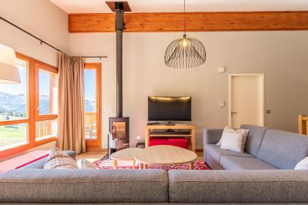 Location au ski Appartement 5 pièces 8 personnes (1003) - Résidence les Monarques - Les Arcs - Poêle à bois