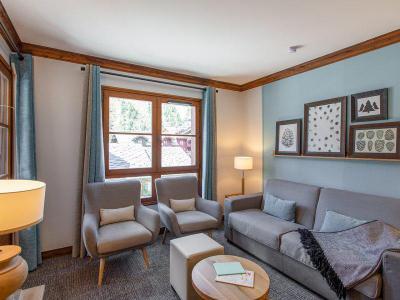 Location au ski 6 personnes - 2 chambres - Piscine vue Mont Blanc extérieure - Résidence P&V Premium le Village - Les Arcs