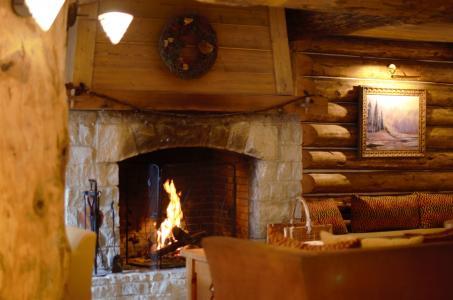 Skiverleih Résidence P&V Premium le Village - Les Arcs - Kamin
