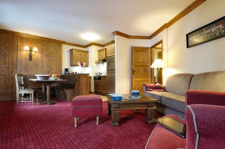 Skiverleih Résidence P&V Premium le Village - Les Arcs - Wohnzimmer