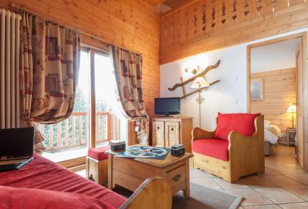 Skiverleih Résidence P&V Premium les Alpages de Chantel - Les Arcs - Kleines Wohnzimmer