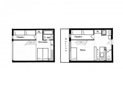 Location au ski Appartement 3 pièces mezzanine 8 personnes (201) - Residence Tournavelles - Les Arcs