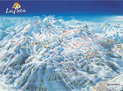 Location au ski Résidence Versant Sud - Les Arcs - Plan