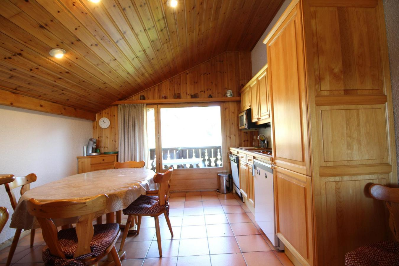 Location au ski Appartement duplex 3 pièces 6 personnes (13) - Residence Le Panda - Les Carroz - Salle à manger