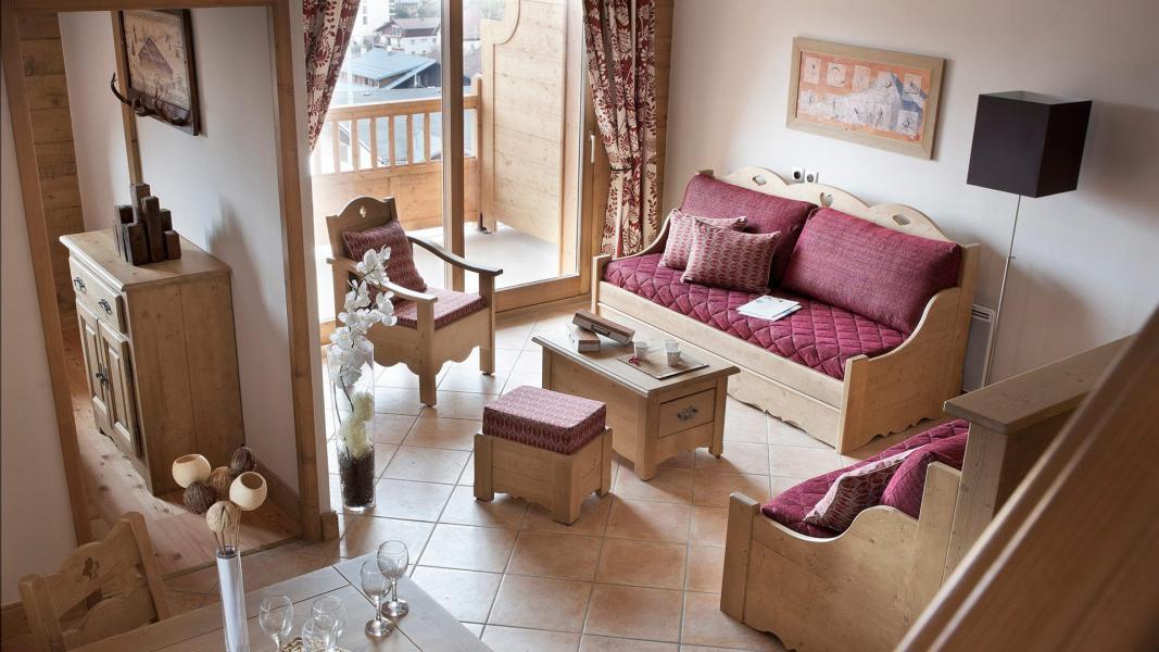 Rent in ski resort Résidence les Chalets de Jouvence - Les Carroz - Living room