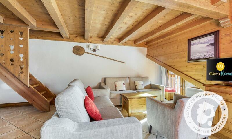 Аренда на лыжном курорте Апартаменты 4 комнат 8 чел. (Sélection -3) - Résidence les Fermes du Soleil - Maeva Home - Les Carroz - зимой под открытым небом
